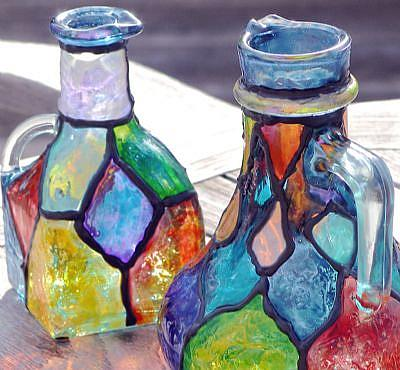 Color on Pitchers In Color   By Diane G  Casey From Stained Glass Painted Art