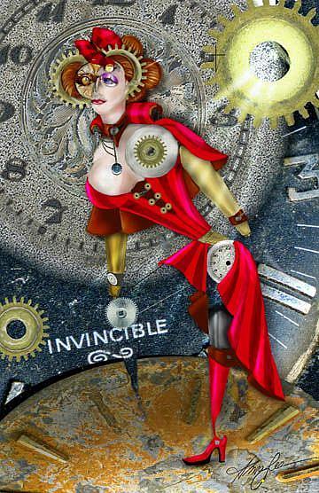Art: Invincible Queen by Artist Alma Lee