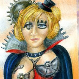 Detail Image for art Steampunk Suzanne and the Anti-aging Device