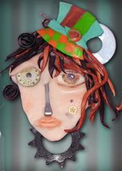Art: Good bye Girl (SOLD) by Artist Alma Lee