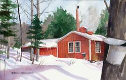 Art: Berkshire Sugarhouse by Artist Steve Hamlin