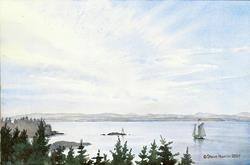 Art: Sailboat, Owl's Head Maine by Artist Steve Hamlin