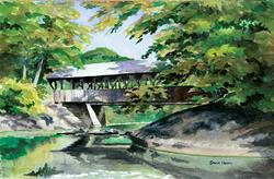 Art: Artists' Bridge, September by Artist Steve Hamlin
