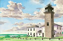 Art: Beavertail Light by Artist Steve Hamlin