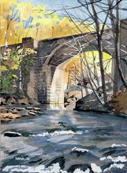 Art: Keystone Arch in Autumn by Artist Steve Hamlin