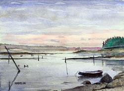 Art: Harrington Bay Twilight by Artist Steve Hamlin
