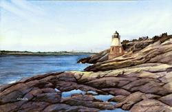 Art: Castle Hill Light by Artist Steve Hamlin