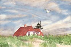 Art: End of Summer, Race Point by Artist Steve Hamlin