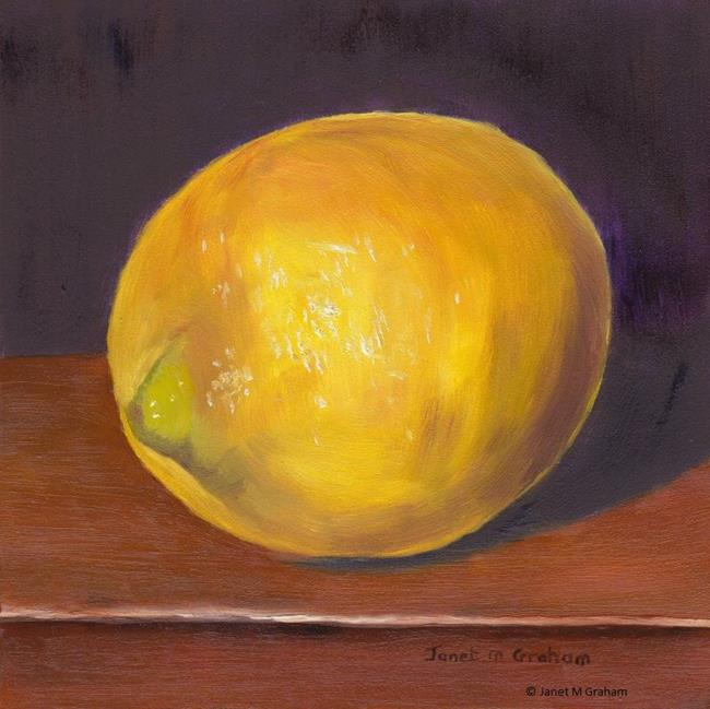 Art: Lemon by Artist Janet M Graham