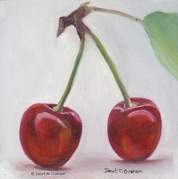 Art: Cherries by Artist Janet M Graham