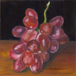 Art: Bunch of Grapes by Artist Janet M Graham