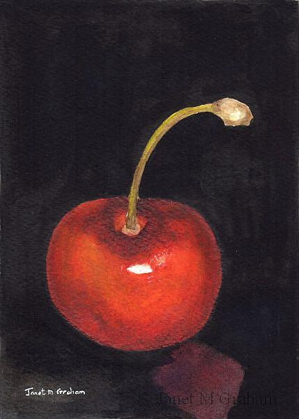 Art: Cherry by Artist Janet M Graham