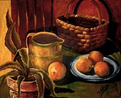 Art: Sunny Southwest Oranges by Artist Diane Millsap