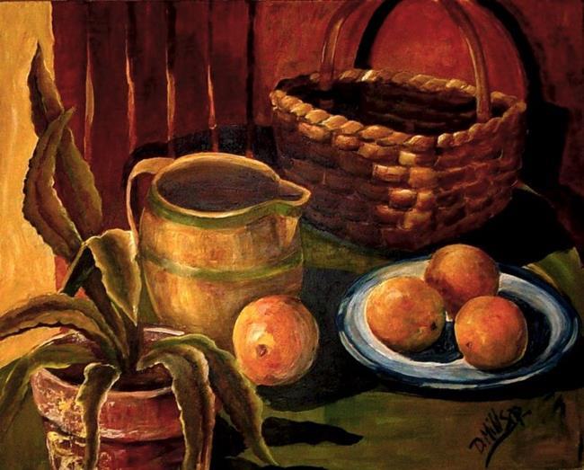 Art: Sunny Southwest Oranges by Artist Diane Millsap