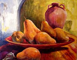 Art: Pears in a Bowl by Artist Diane Millsap