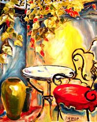 Art: Bistro Table by Artist Diane Millsap