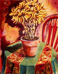 Art: Dried Sunflowers - SOLD by Artist Diane Millsap