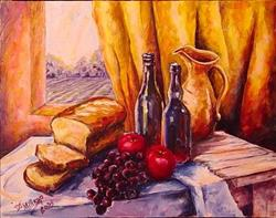 Art: Afternoon Feast by Artist Diane Millsap
