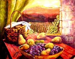 Art: Bountiful Harvest by Artist Diane Millsap
