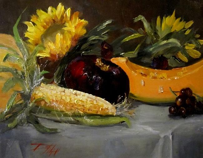 Art: Corn and Onion by Artist Delilah Smith