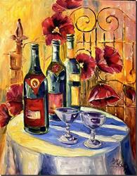 Art: Afternoon Wine by Artist Diane Millsap