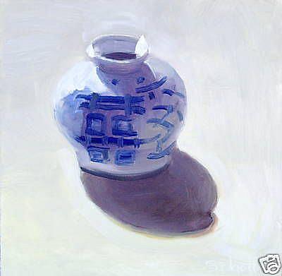 Art: Japanese Jar by Artist Debra Schott
