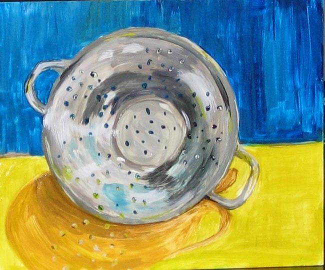 Art: Colander by Artist Delilah Smith