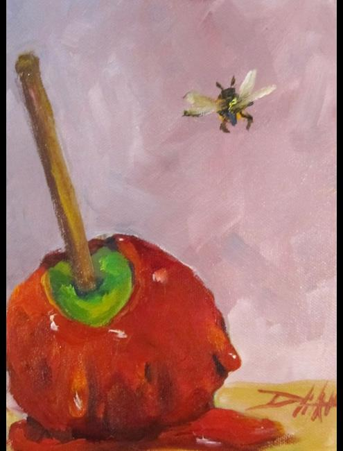 Art: Candy Apple and Bee by Artist Delilah Smith