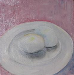 Art: Two Eggs by Artist Delilah Smith