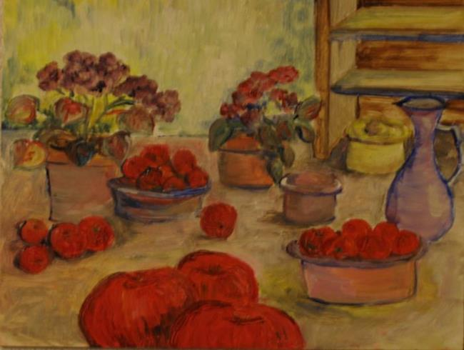 Art: Fruit and Flowers by Artist Delilah Smith