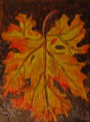 Art: Fall Leaf by Artist Delilah Smith