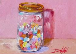 Art: Hearts in a Jar by Artist Delilah Smith