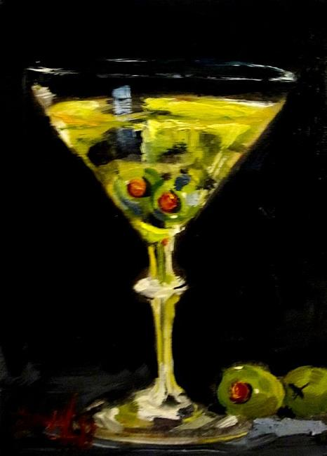 Art: Two Olive Martini-SOLD by Artist Delilah Smith