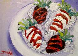 Art: Strawberries Cover with Chocolate by Artist Delilah Smith