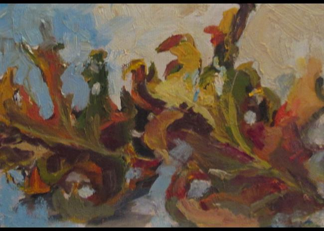 Art: Falling Leaves by Artist Delilah Smith