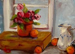 Art: Window Flowers by Artist Delilah Smith
