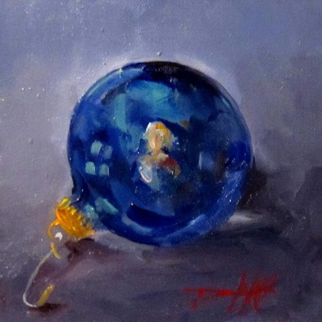 Art: Blue Ornaments No. 2 by Artist Delilah Smith