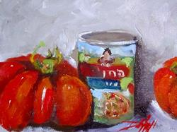 Art: Heirloom Tomato and Sauce by Artist Delilah Smith