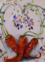 Art: Carrot Love by Artist Delilah Smith
