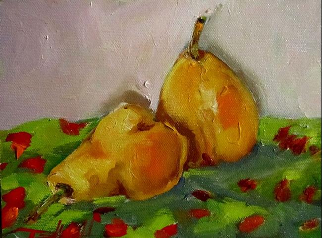 Art: Two Pears-sold by Artist Delilah Smith