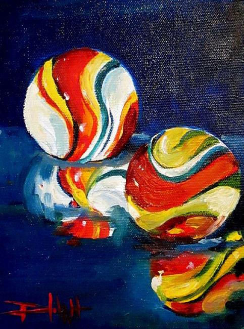 Art: Marbles-sold by Artist Delilah Smith