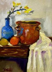 Art: Blue Vase by Artist Delilah Smith
