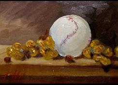 Art: Peanuts and Baseball by Artist Delilah Smith