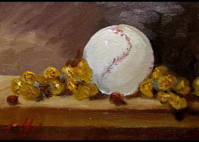 Art: Peanuts and Baseball by Artist Delilah Smith