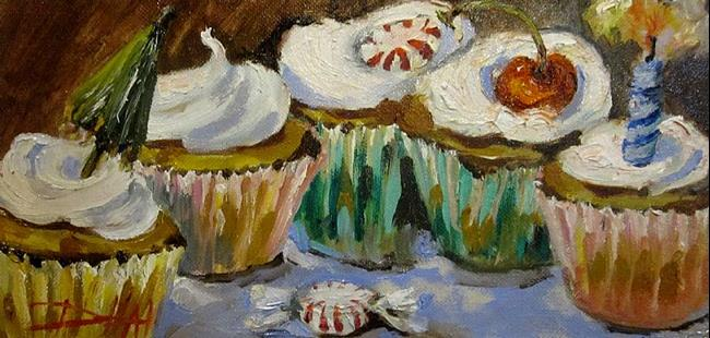 Art: Cup Cake Party by Artist Delilah Smith