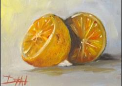 Art: Orange Still Life by Artist Delilah Smith