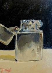 Art: Zippo Lighter by Artist Delilah Smith