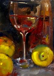 Art: Still Life with Wine by Artist Delilah Smith