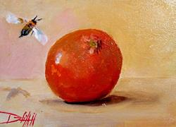 Art: Orange and Bee by Artist Delilah Smith