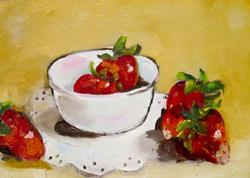 Art: Bowl with Strawberries by Artist Delilah Smith